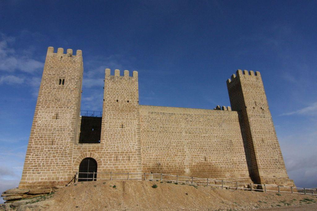 Castillo de Sadaba, Aragon, Spanien