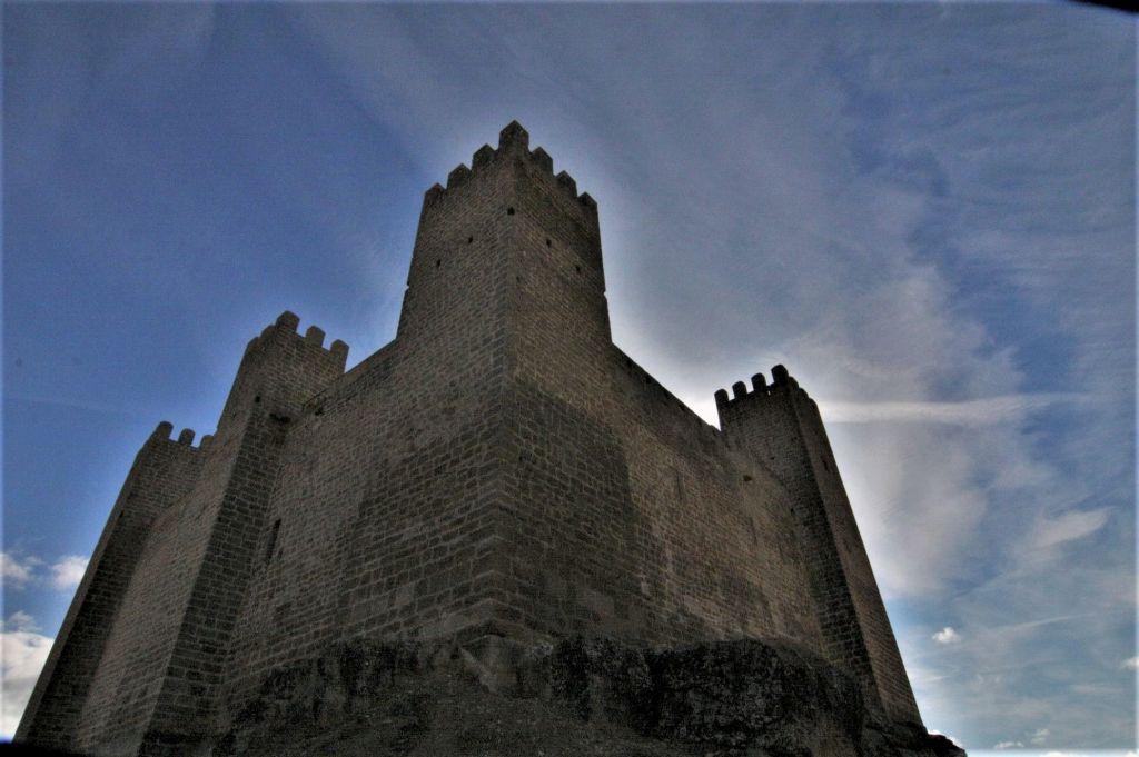Die Burg von Sadaba in Aragón