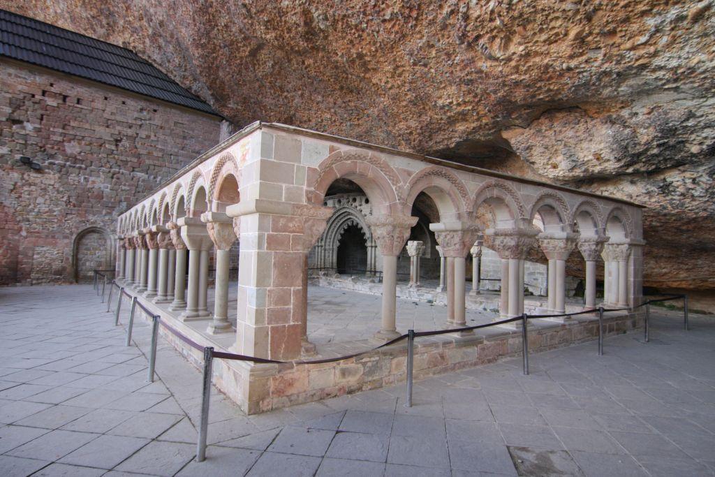 Kreuzgang des Kloster San Juan de La Pena, Spanien