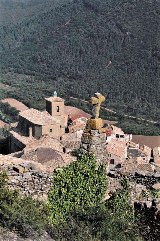 Blick auf Gallipienzo Viejo