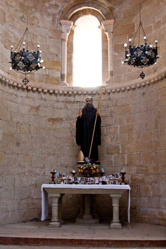 Figur des Heiligen Veremundo, Patronat des Klosters von Irache