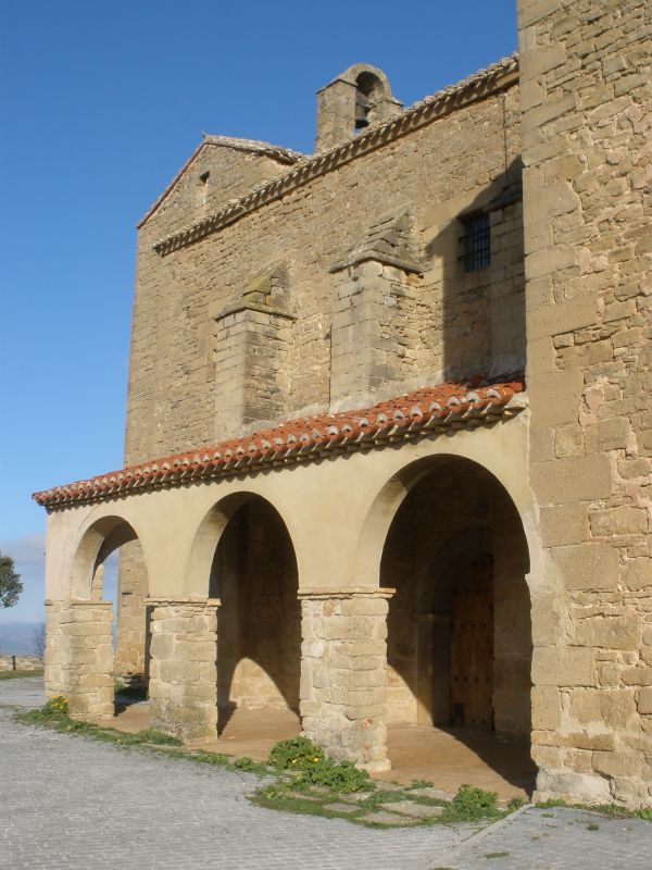 Iglesia San Miguel in Olcoz, Navarra, Spanien