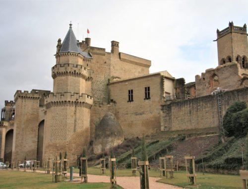 Der königliche Palast von Olite in Navarra