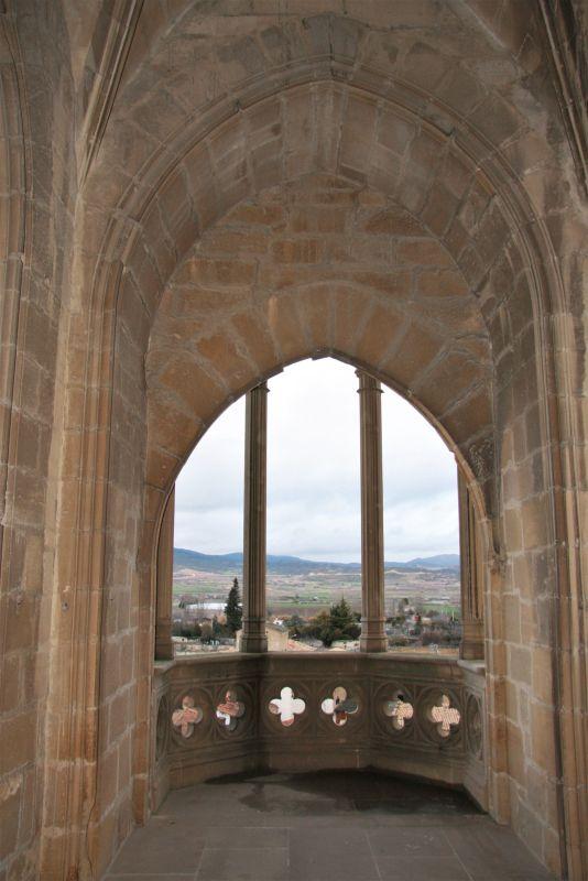 Blick aus dem Palacio Nuevo von Olite auf das Umland
