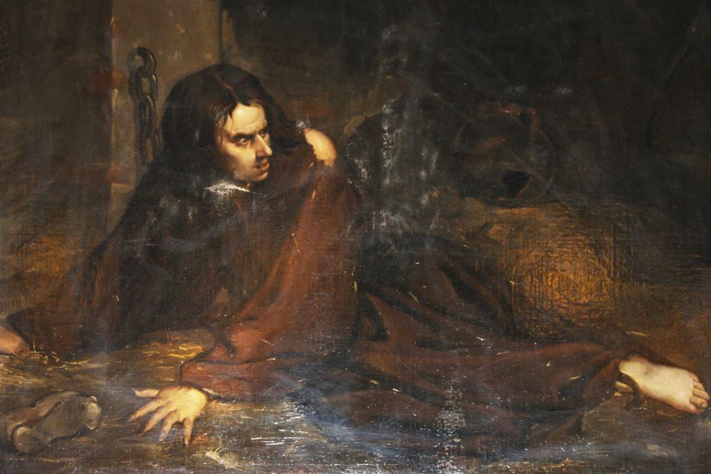 Porträt des Prinzen von Viana im Kerker des alten Palastes von Olite