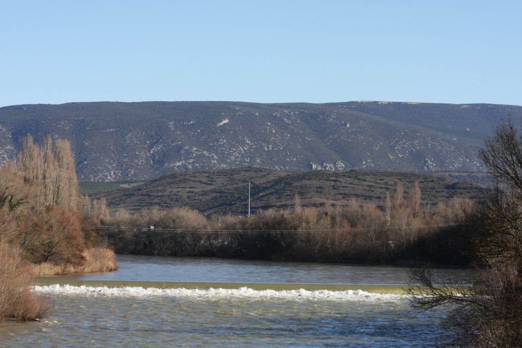 Rio Aragón bei Sanguesa in Navarra