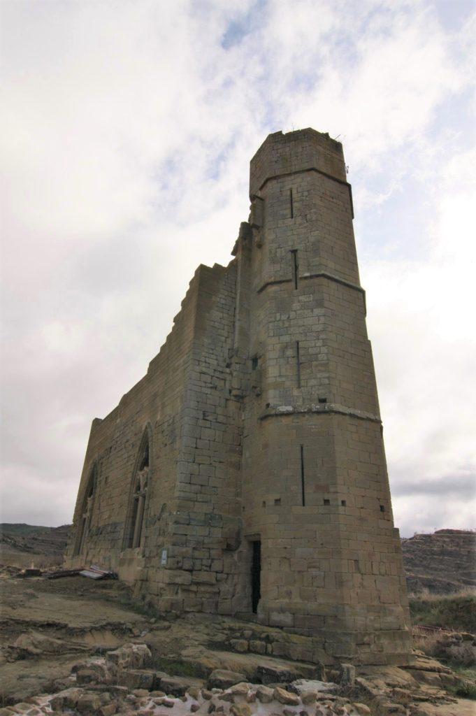 gotischer Palast der Burgruine von Uncastillo