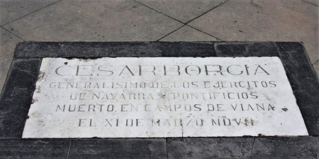 Grabplatte von Cesare Borgia in Viana