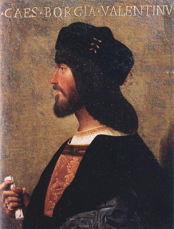 Portrait of Cesare Borgia (1475-1507); Bartolomeo Veneto; ca. 1500; Museo di Palazzo Venezia