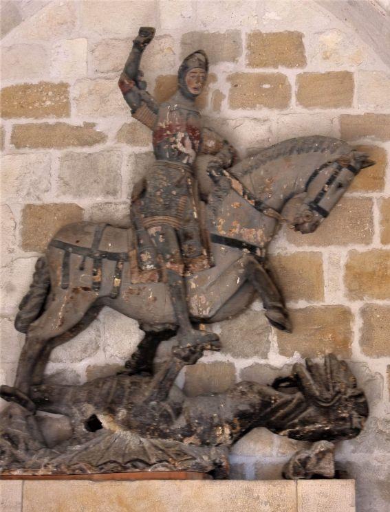 Figur des Heiligen Georg in der Kapelle der Kirche San Miguel in Estella
