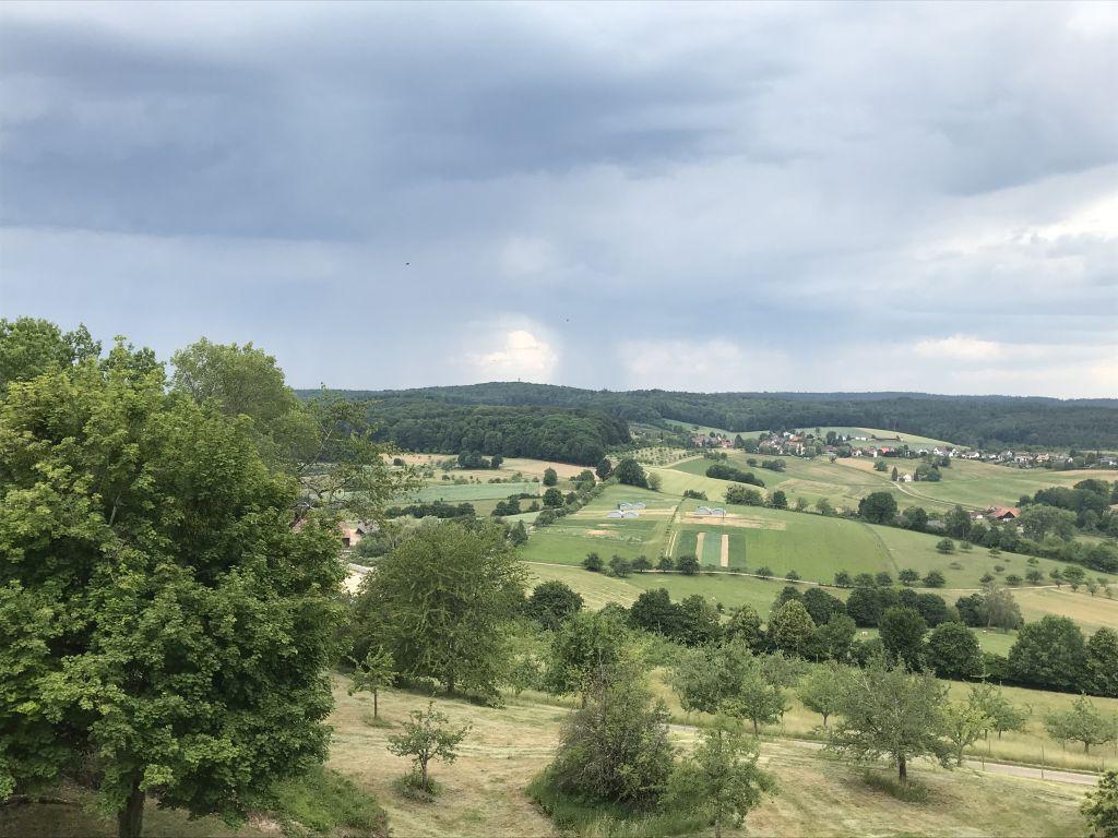 Blick ins Rheintal von der Festung Hochburg