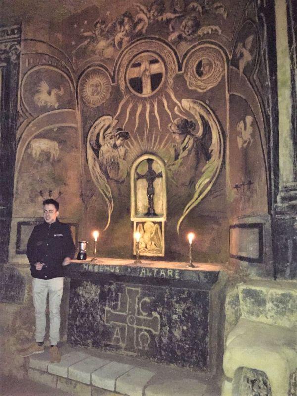Altarbild in der Kapelle der Fluweelengrotte in Valkenburg