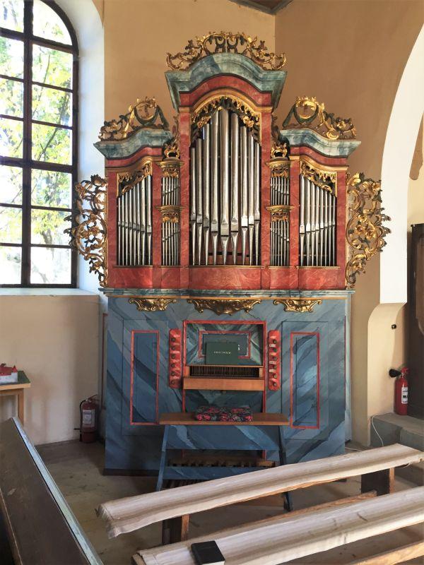 Barockorgel in der evangelischen Kirche in Wolkendorf / Vulcan, Siebenbuergen