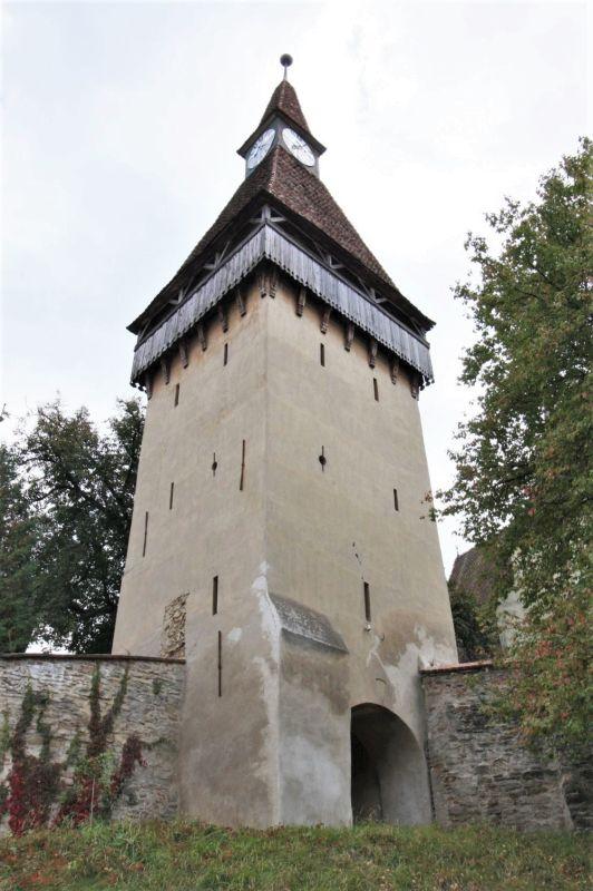 Stundenturm der UNESCO-Kirchenburg von Birthaelm / Biertan