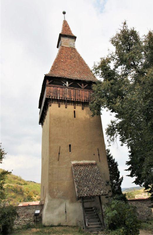 Stundenturm der Kirchenburg von Birthaelm / Biertan