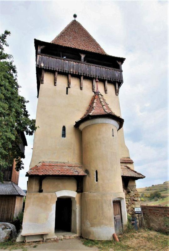 Mausoleumsturm der Unesco-Kirchenburg von Birthaelm / Biertan
