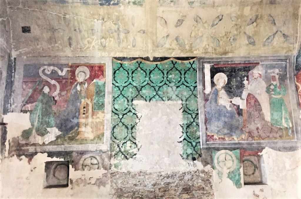 Fresekn im Katholischen Turm der Kirchenburg von Birthaelm, Biertan