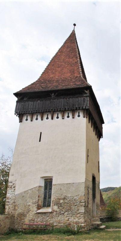 Katholischer Turm der UNESCO-Kirchenburg von Birthaelm / Biertan