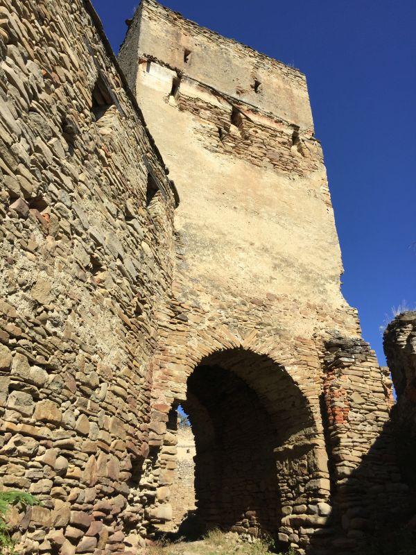 Torturm der Bauernburg von Keisd / Saschiz in Siebenbuergen
