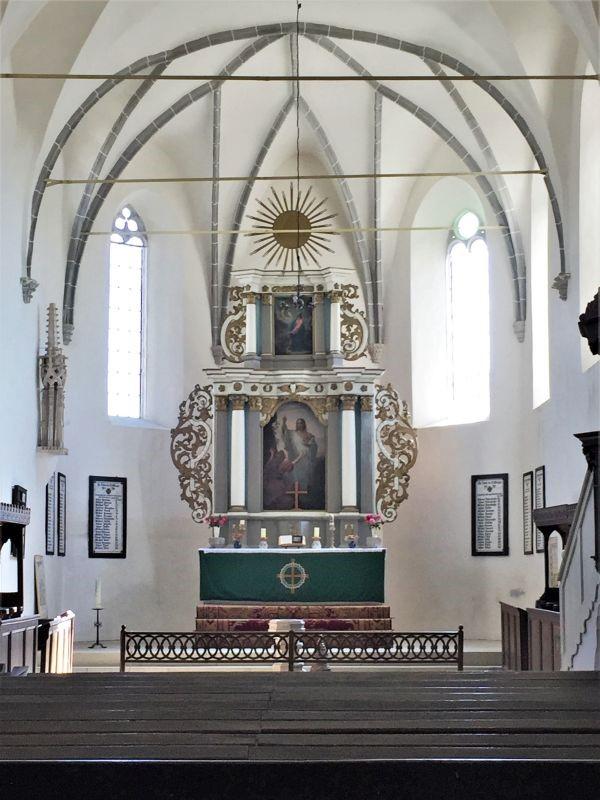 barocker Altar in der Wehrkirche von Keisd / Saschiz, Siebenbuergen