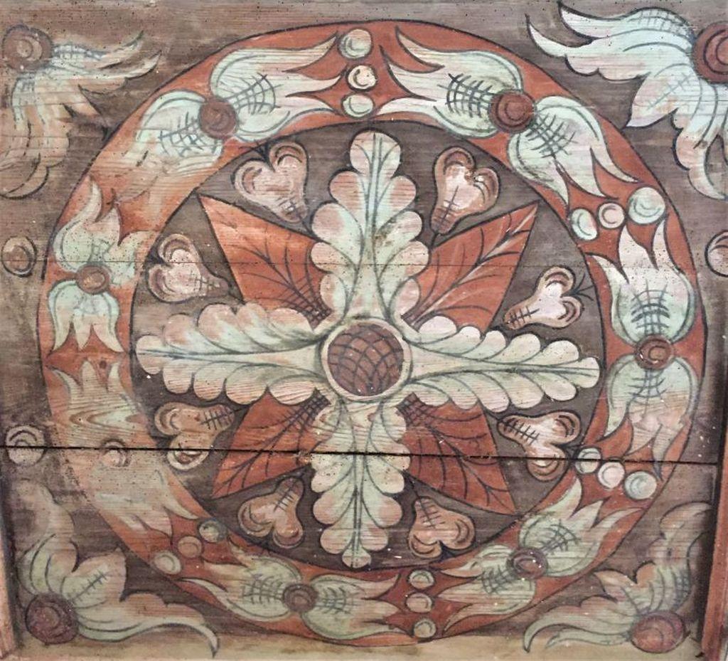 Bauernmalerei in der Kirchenburg von Klosdorf / Cloaşterf