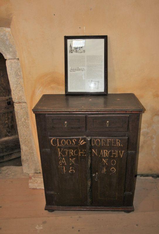 Kirchenarchiv der Klosdorfer Gemeinde in Siebenbuergen