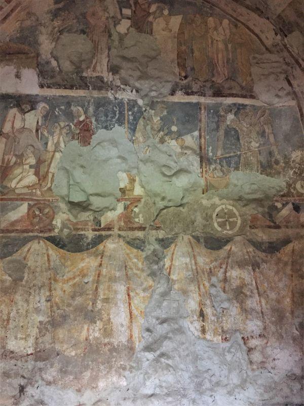 Wandmalerei in der Begraebniskapelle der Kirchenburg von Petersberg, Sanpetru