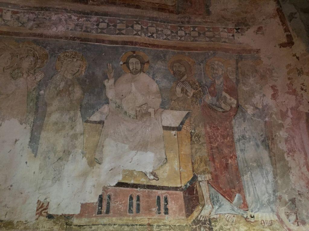 Fresken in der romanischen Kapelle der Kirchenburg von Petersberg, Sanpetru im Burzenland