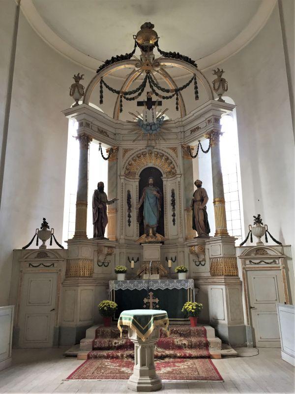 Altar in der Kirchenburg von Petersberg, Sanpetru im Burzenland