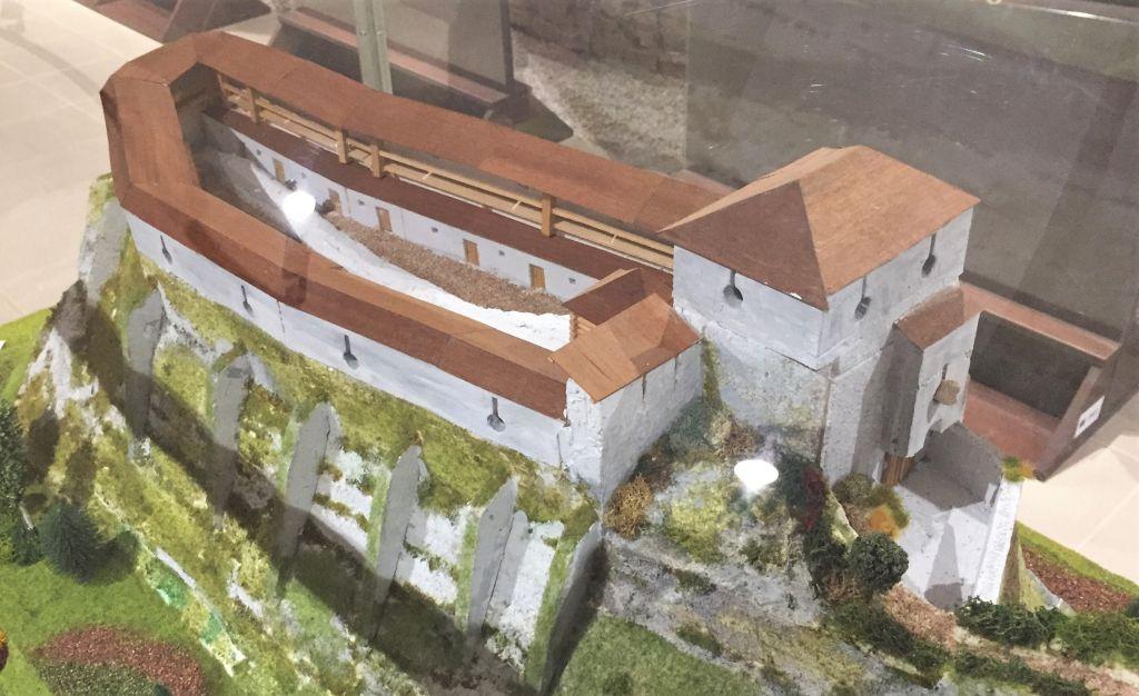 Modell der Schwarzburg auf dem Zeidner Berg