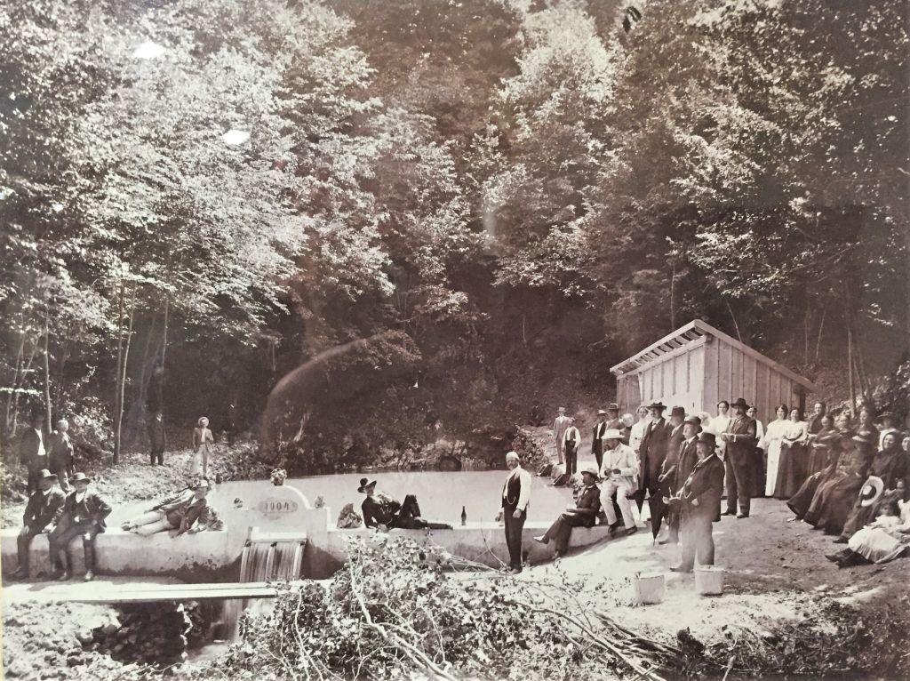 Eroeffnung des Waldbads von Zeiden / Codlea 1904
