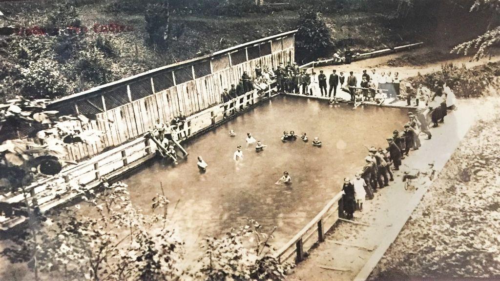 Waldbad von Zeiden / Codlea 1927