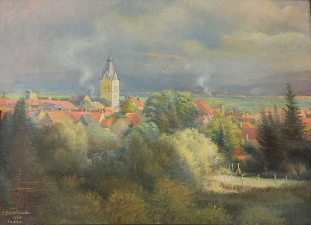 Aquarell von Aurel Bordenache