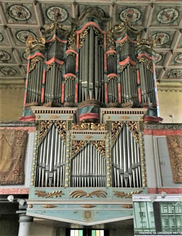 Prause-Orgel in der Kirchenburg von Zeiden / Codlea im Burzenland