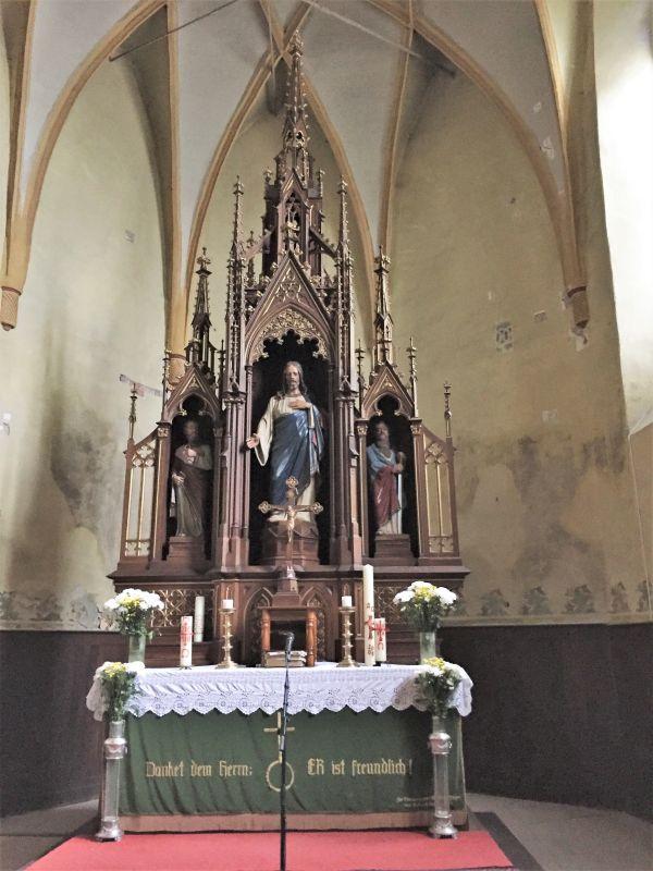 Altar in der Kirchenburg von Zeiden / Codlea im Burzenland