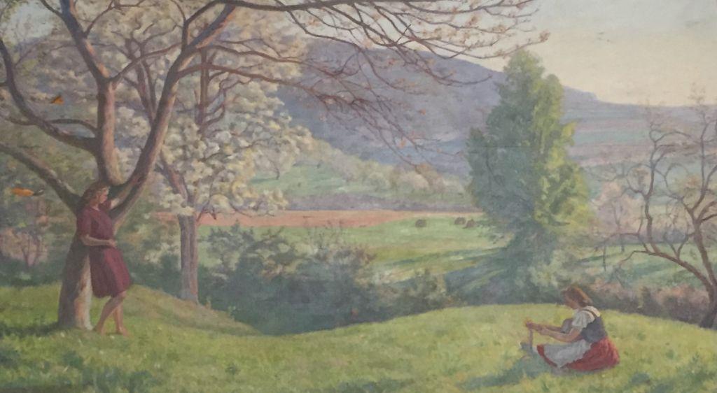 Landschaftsgemaelde von Eduard Morres