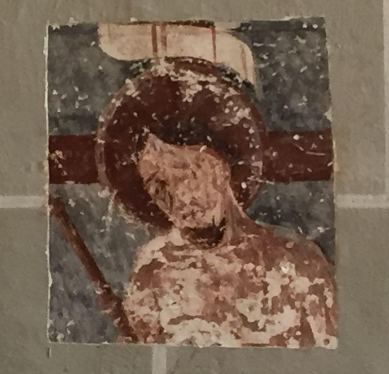 mittelalterlicher Freskenausschnitt