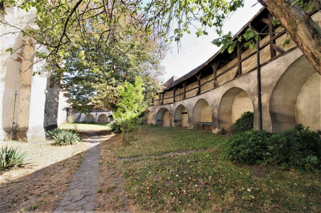 Ringmauer der Kirchenburg in Valea Viilor, Wurmloch, Siebenbuergen, Rumaenien