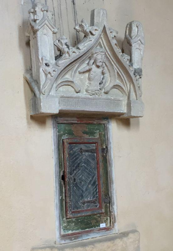 Sakramentshaeuschen in der Kirchenburg von Wurmloch in Siebenbürgen