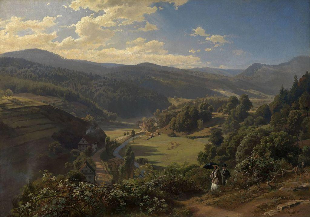 Gemaelde Johann Wilhelm Schirmer; Das Geroldsauer Tal bei Baden-Baden; 1855; Staatliche Kunsthalle Karlsruhe