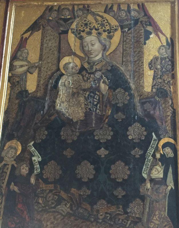 Detail des Altarbilds des Fluegelaltars in der Wehrkirche von Malmkrog in Siebenbuergen