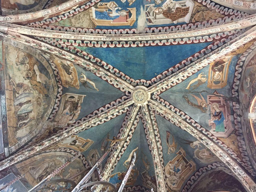 Wandgemaelde im Chorgewoelbe der Kirchenburg von Malmkrog