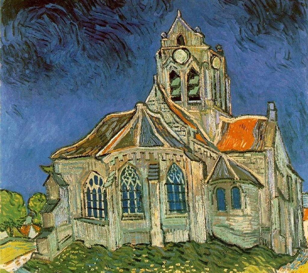 Vincent Van Gogh; Kirche bei Auvers; 1890