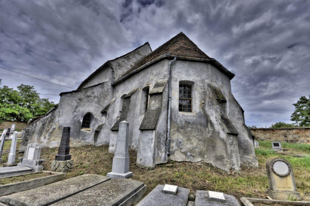 Kirchenburg von Thalheim (Daia), Fotografie aus dem Bildband Ueber Siebenbuergen