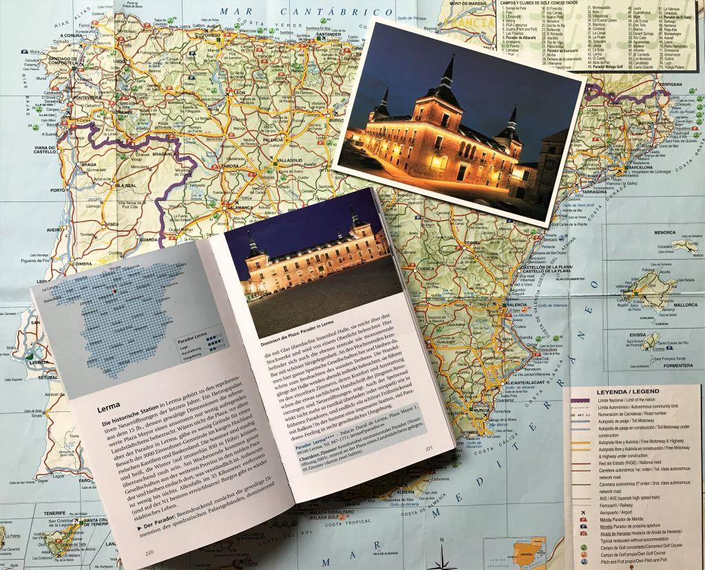 Parador in Lerma, Abbildung aus dem Reisefuehrer Spaniens Paradores