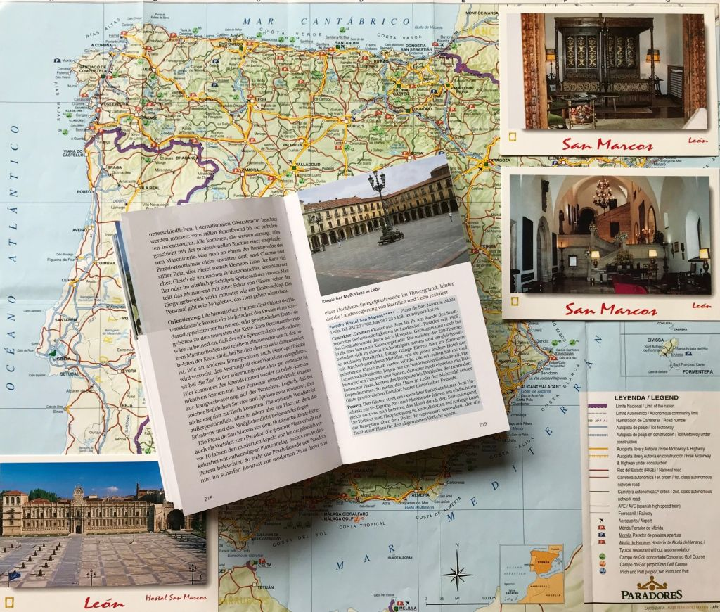 Abbildung aus dem Reisefuehrer Spaniens Paradores