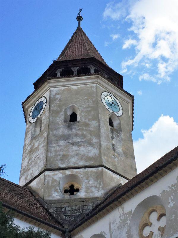 Glockenturm der Heilig Kreuz Kirche von Tartlau / Prejmer