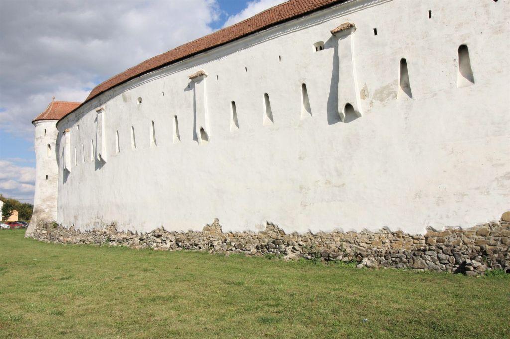 Mauerring mit Gusserkern der Kirchenburg von Tartlau / Prejmer