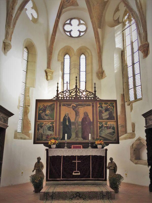 Chorraum der Heilig Kreuz Kirche in Tartlau in Siebenbuergen