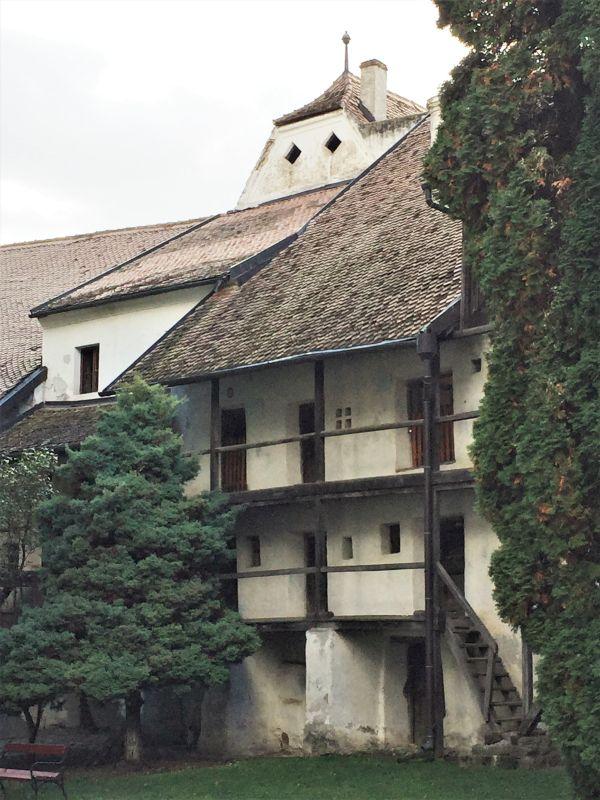 Wohn- und Kornkammern in der Kirchenburg von Tartlau / Prejmer